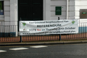 Vote on the East Grinstead Neighbourhood Plan