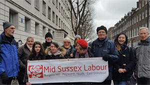 Mid Sussex Labour Party on the Save the NHS March